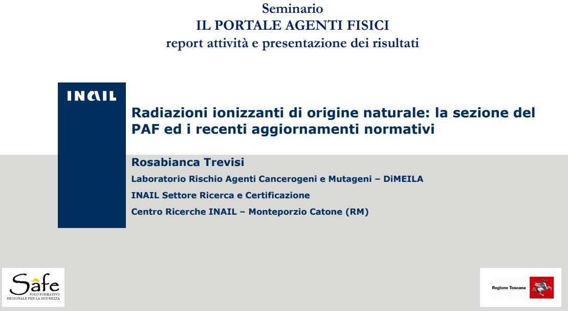 Radiazioni ionizzanti di origine naturale