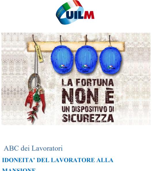 IDONEITA' DEL LAVORATORE ALLA MANSIONE
