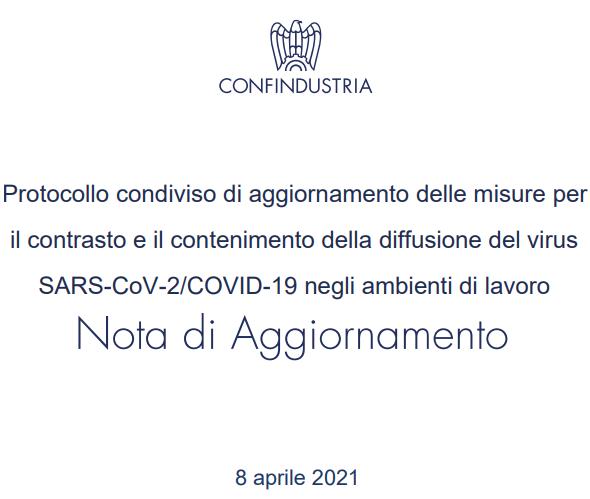 Protocollo COVID-19 Confindustria