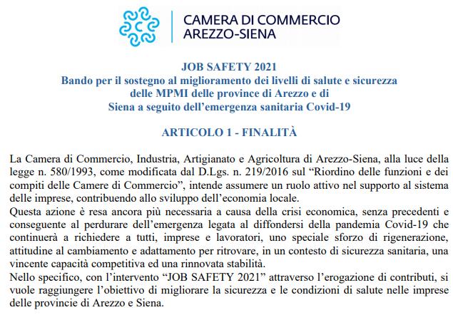 Bando JOB SAFETY 2021