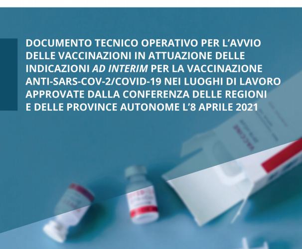 Vaccinazione anti-Sars-Cov-2/Covid-19 nei luoghi di lavoro