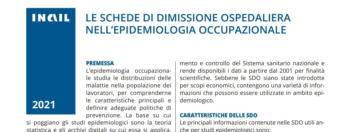DIMISSIONE OSPEDALIERA NELL'EPIDEMIOLOGIA OCCUPAZIONALE