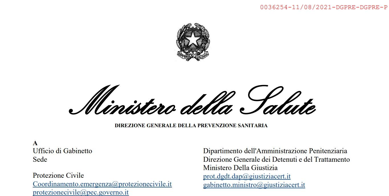 Aggiornamento sulle misure di quarantena e di isolamento raccomandate alla luce della circolazione delle nuove varianti SARS-CoV-2 in Italia ed in particolare della diffusione della variante Delta (lignaggio B.1.617.2
