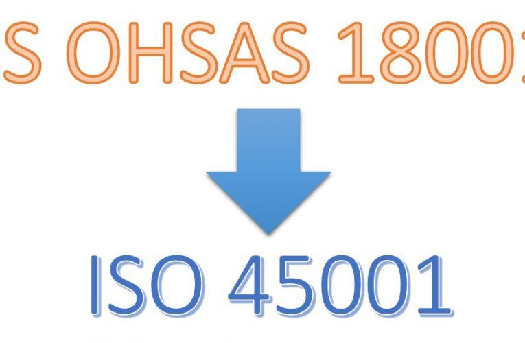 BS OHSAS 18001: A settembre termina la validità