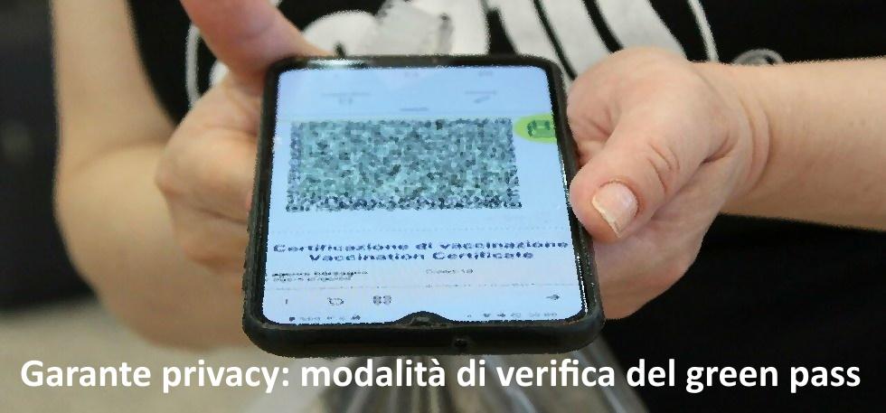 Cosa dice il Garante della privacy sul green pass?